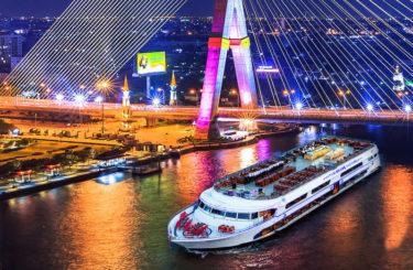 ディナークルーズをバンコクで楽しむ【チャオプラヤー川からの絶景】